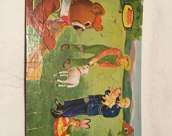 captain kangaroo frame tray puzzle