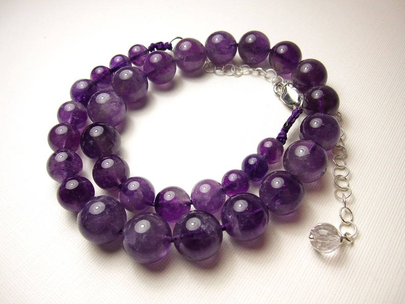 Healing crystals and stones jewelry Amethyst jewelry Amethyst pendant gemstone necklace,natural gemstones necklace Amethyst necklace