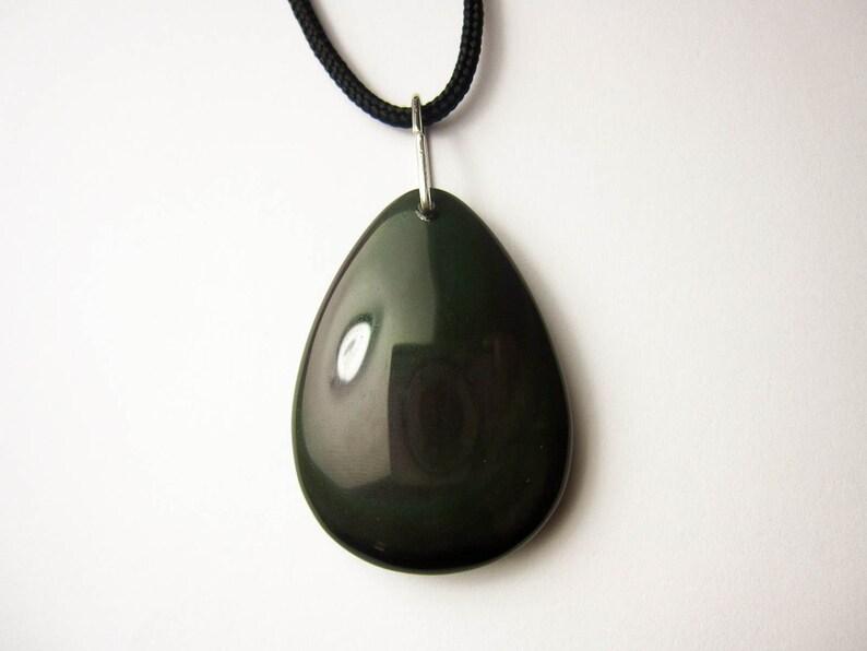 black obsidian stone obsidian necklace rainbow obsidian, black obsidian obsidian jewelry obsidian pendant raw black obsidian