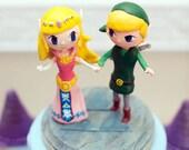 Custom Wedding Cake Topper Nintendo Zelda Link Tri-Force Theme