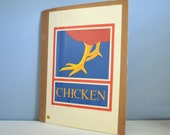 Vintage Signed and Numbered Hand Pulled Silkscreen - Chicken