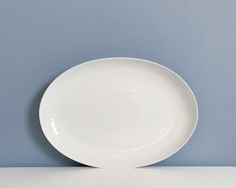 "Vintage Rosenthal Motif - Romance White Serving Oval Platter by Bjorn Wiinblad - 15 1/2"""