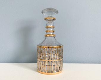 Vintage Imperial Glass Shoji Gold Trellis Decanter