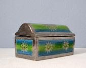 Mid Century Modern Italian Pottery Lidded Box - Bitossi for Rosenthal Netter