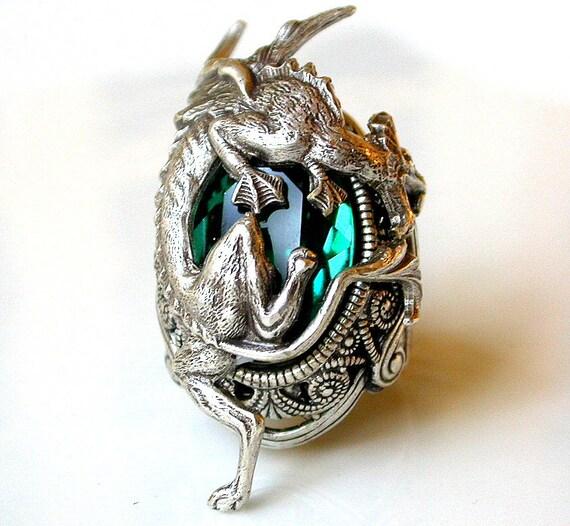 Handmade Sterling Silver Dragon Glaurung Statement Ring