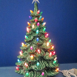 large 19 lighted ceramic scioto christmas tree newly made casted from vintage molds - Large Ceramic Christmas Tree