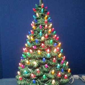 large 22 lighted ceramic holland christmas tree newly made casted from vintage molds - Large Ceramic Christmas Tree