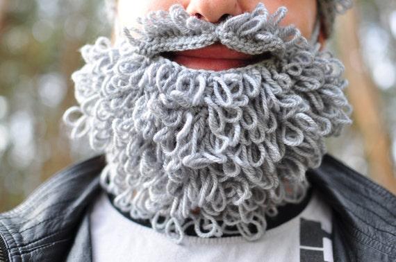 Lumbersexual häkeln Bart und Schnurrbart grau häkeln Herbst | Etsy