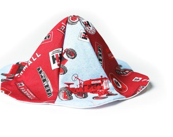 60be5b98603 CaseIH Tractor Sun Hat for Babies 0-6 Month Size Pink