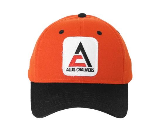 WHITE AC LOGO FULL BACK ADULT ALLIS CHALMERS ORANGE CAP NEW