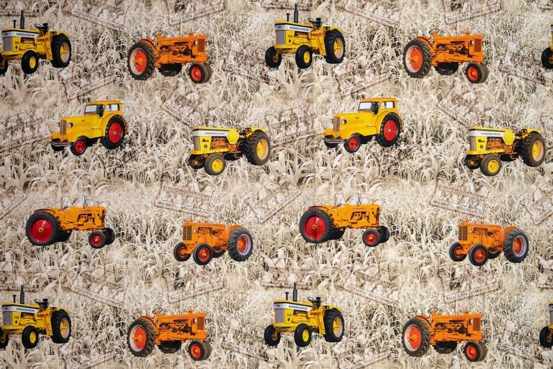 Minneapolis Moline Tractor Fabric, tan