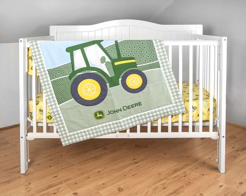 John Deere Crib Bedding by Janddproductions