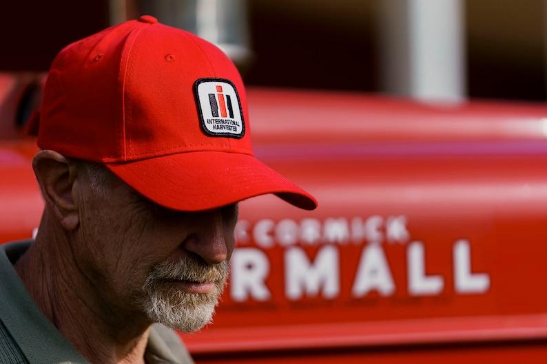 36ae8b87 International Harvester IH Logo Hat solid red | Etsy