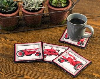 Set of four Farmall Tractor Coasters