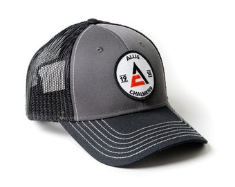 Allis Chalmers Logo Cap, 1914 logo, gray with black mesh