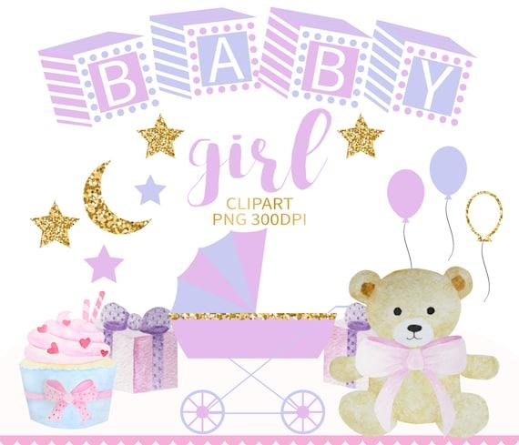 Baby Girl Clipart Nursery Clipart Baby Shower Clip Art Baby Etsy