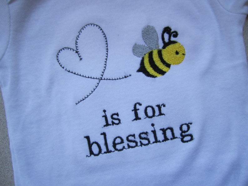4508a56b0 Bee is for blessing bodysuit/ bee onesie/ bee baby shower gift | Etsy