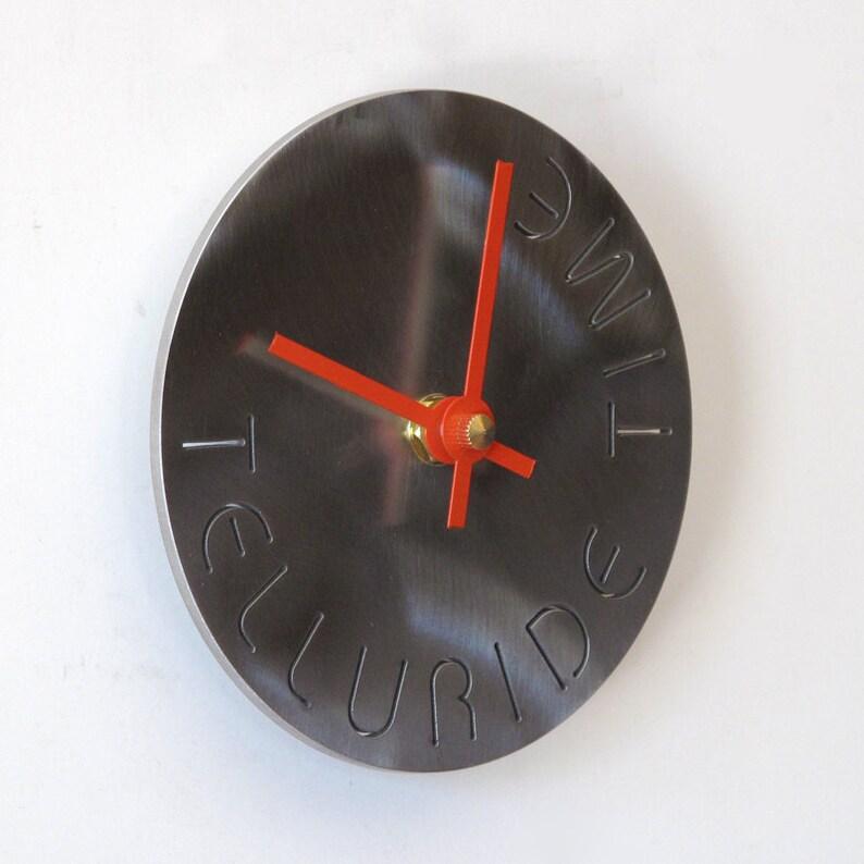 Telluride peu ronde industrielle Art horloge temps