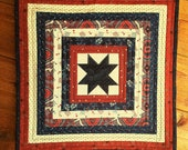 AMERICANA Quilted PATRIOTIC Mini Quilt for sale Wall Hanging Table Runner 4th of July Independence day Veterans day