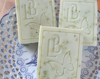 Coconut Milk Soap (Scented with spearmint and lime -  Luxury handmade soap with Shea and Cocoa Butter -  Handmade in BC Canada - Soap Canada