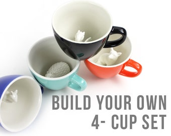Build your Own Bundle by CREATURE CUPS | Animal Inside | Handmade Ceramic Cup, Colors | Holiday / Birthday Gift for Coffee & Tea Lovers