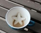 Starfish Mug Hidden Coastal Animal Starfish Coffee Mug Summer Birthday Gift Beach decor Gift for Holidays Valentines Gift