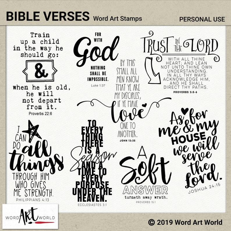 photograph relating to Free Printable Scripture Word Art titled Electronic and Printable Overlay Term Artwork Mounted - Instantaneous Obtain - Bible Scriptures Clip Artwork - Stamps - PNG - Sbooking - Individual Employ the service of