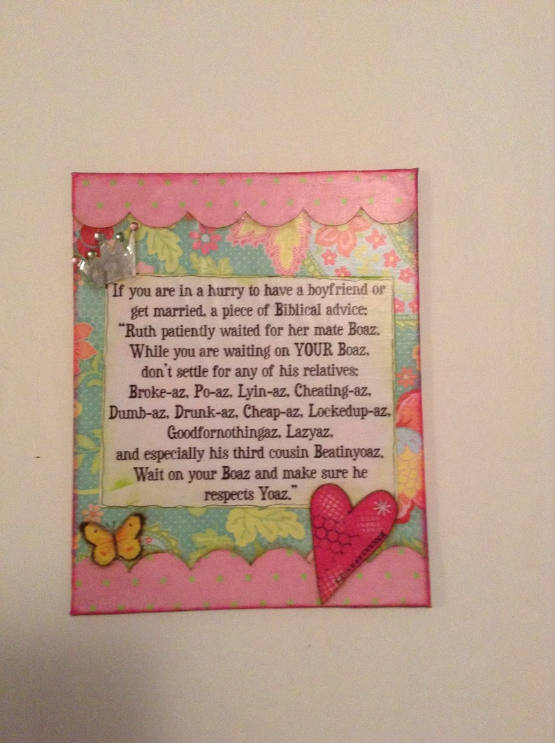 A Girls Biblical Advice, Mixed Media 8x10 Canvas Board