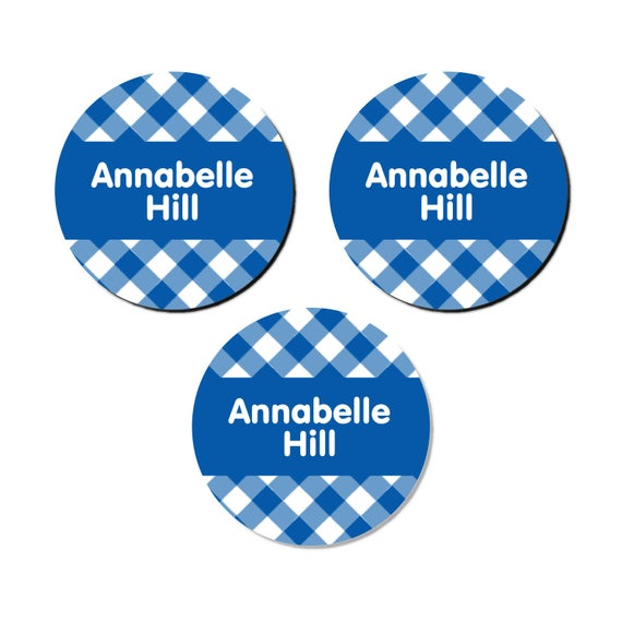 Daycare Name Label Pack Gingham 20+ Colors