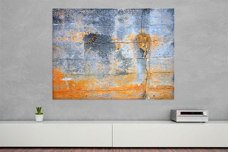 Industrial blue orange  Canvas Print image 0