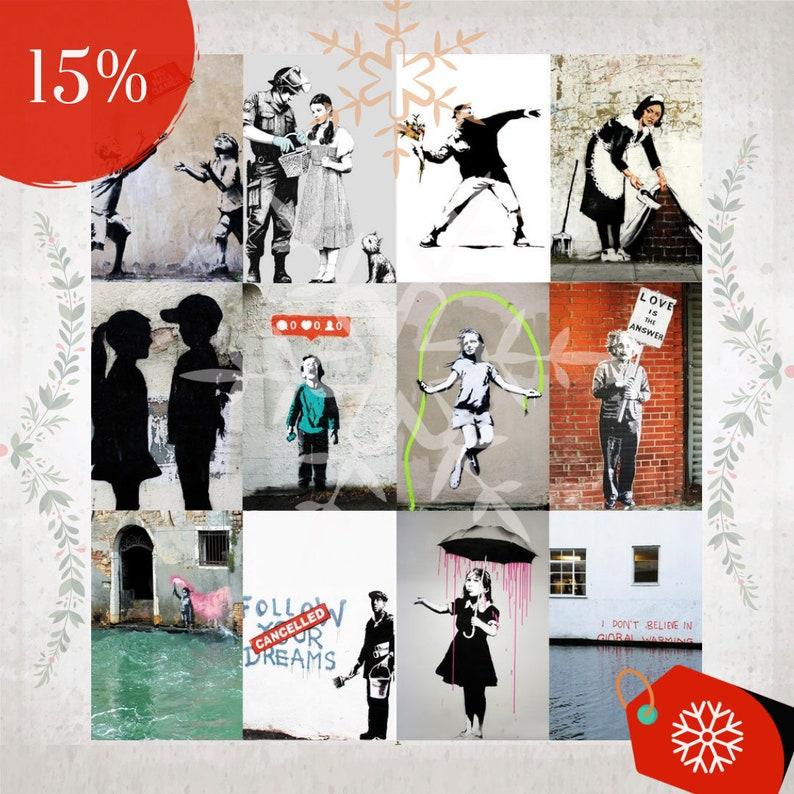 SALE% Banksy Streetart WandKalender 2020 image 0