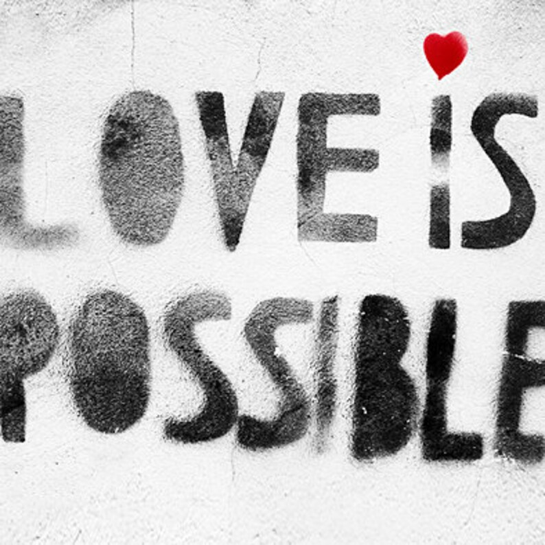 Love is Possible Framed Canvas Print image 0