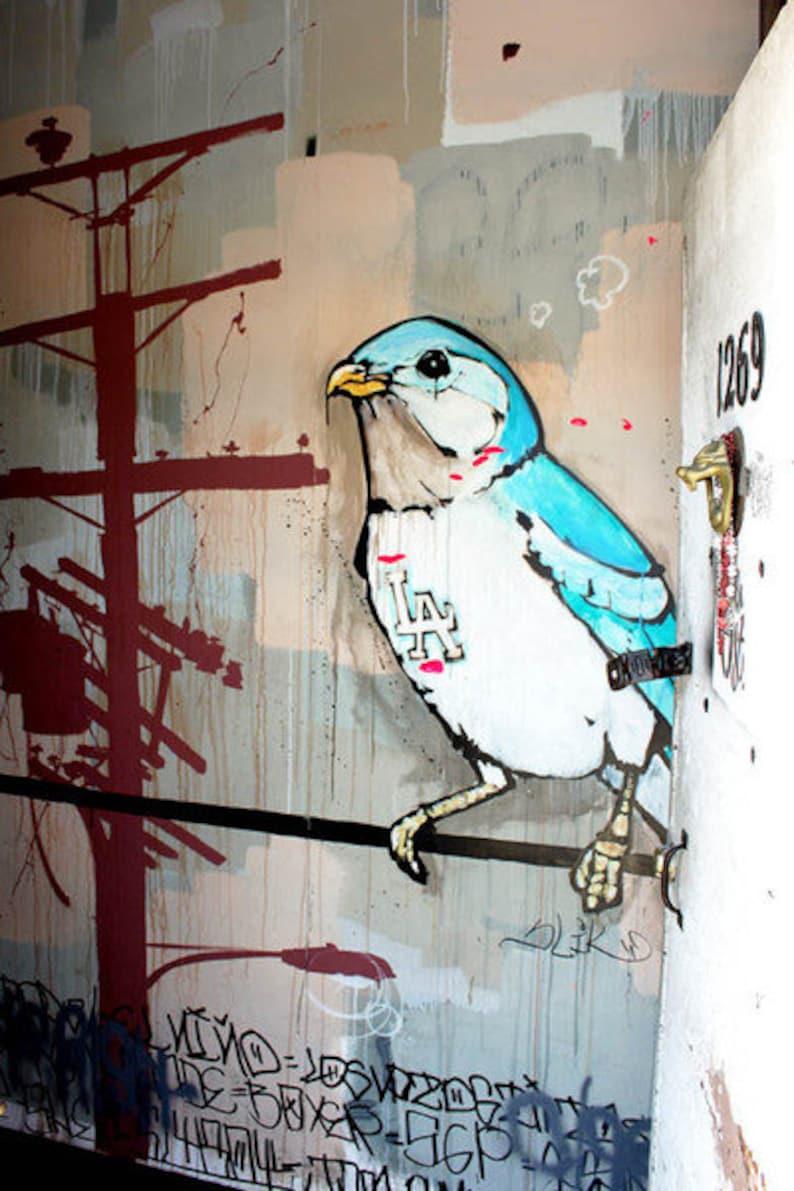 L.A. Bird  Berlin Street Art Canvas Print image 0
