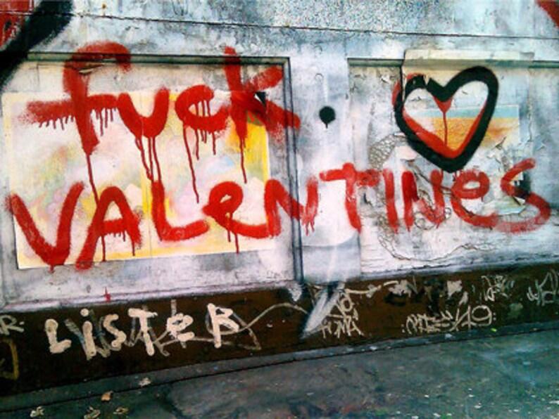 Fuck Valentines Street Art canvas Print image 0