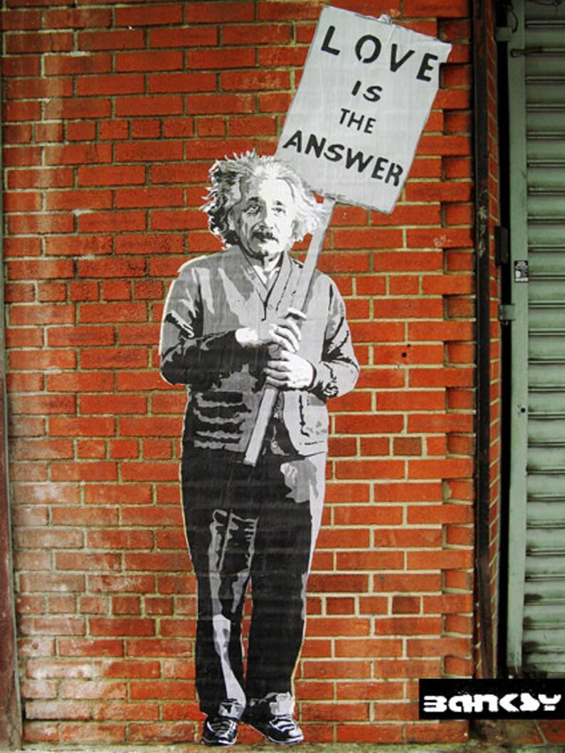 Banksy Einstein  Canvas Print image 0