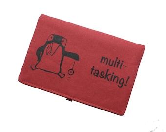 Tobacco pouch, smoke pouch rasberry, penguin