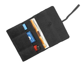 Tobacco pouch smoke pouch grey black  cord broad