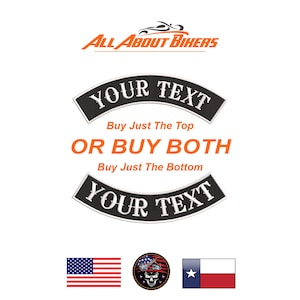 2 Square or Diamond Custom Embroidered Biker Patch Sizes and Colors Available