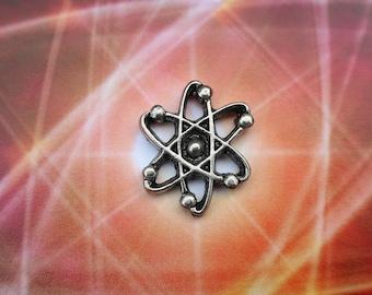 Atom Lapel Pin - CC306- Science Pins- Atom, Science Teacher, Matter, Chemistry