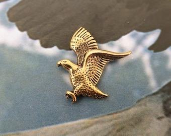 biker pin patriotic jewelry patriotic brooch eagle lapel pin American eagle pin tie tack USA MAGA Vintage American flag lapel pin