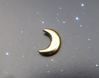 Gold Crescent Moon Lapel Pin- CC457G- Crescent, Moon, Moon Phases, Space and Astronomy Pins