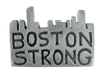 Boston Strong Lapel Pin - CC583- Boston Marathon, and Boston Pins