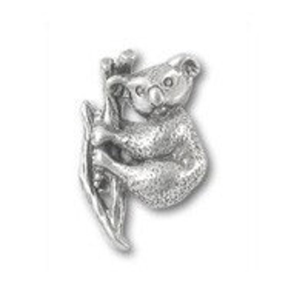 Koala Bear Lapel Pin CC142 Marsupial Koala Zoo And