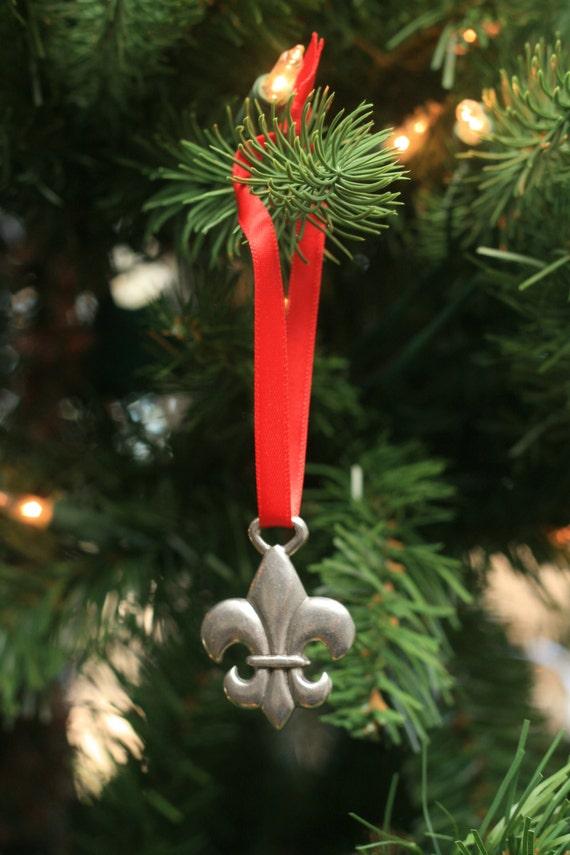 Fleur De Lis Christmas Ornament - Fleur De Lis Christmas Ornament Etsy