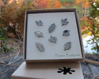 Leaf Pushpins For Your Corkboard
