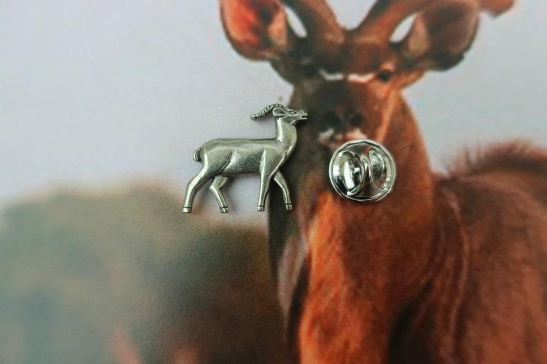 African Animals Wildlife and Zoo Animals Antelope Lapel Pin Gazelles CC249- Pronghorn