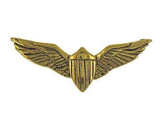 Gold Pilot Wings Lapel Pin-CC497G- Aviation Pins