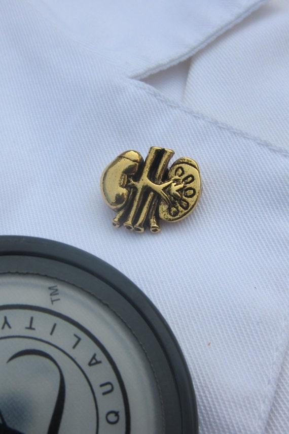 Jim Clift Design Kidney Gold Lapel Pin