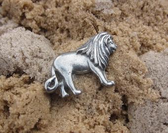 Lion Lapel Pin - CC247-Safari and Zoo Animal Pewter Pins