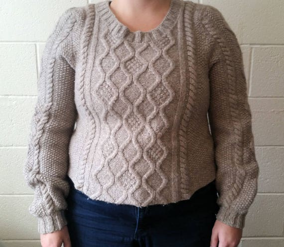 Cable Knit Sweater Pattern Etsy